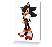 Shadow - Sonic the Hedgehog Greeting Card