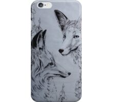 Fox Glove and Foxes iPhone Case/Skin