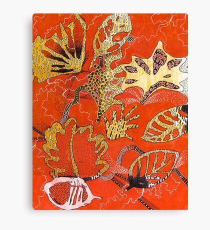 Leaves 27 Mixed Media - Ink on Acrylic Monoprint Canvas Print