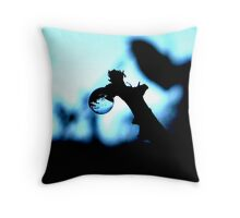 A WORLD IN A BALL OF ICE Throw Pillow