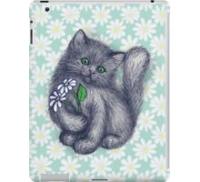 Cute Kitten with Daisies iPad Case/Skin