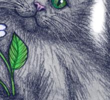 Cute Kitten with Daisies Sticker