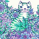 Garden Cat Doodle by micklyn
