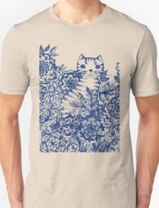 Garden Cat Doodle Unisex T-Shirt