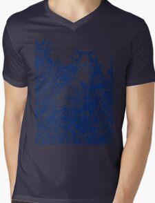 Garden Cat Doodle Mens V-Neck T-Shirt
