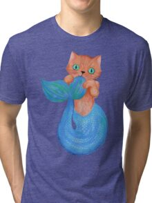 Merkitten Life Lesson #14 - You are NOT your food Tri-blend T-Shirt