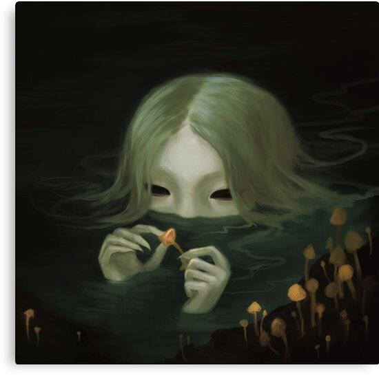 swamp girl lurking by fioski