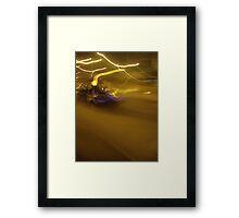 night taxi Framed Print