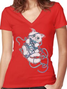 I Give Up!! Women's Fitted V-Neck T-Shirt