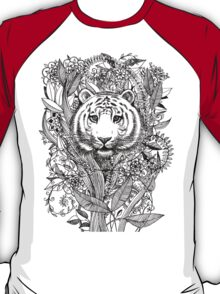 Tiger Tangle in Black and White T-Shirt