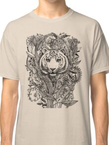 Tiger Tangle in Black and White Classic T-Shirt