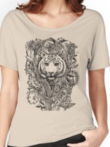 Tiger Tangle in Black and White Women's Relaxed Fit T-Shirt