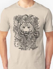 Tiger Tangle in Black and White Unisex T-Shirt