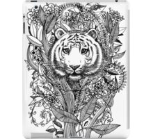 Tiger Tangle in Black and White iPad Case/Skin