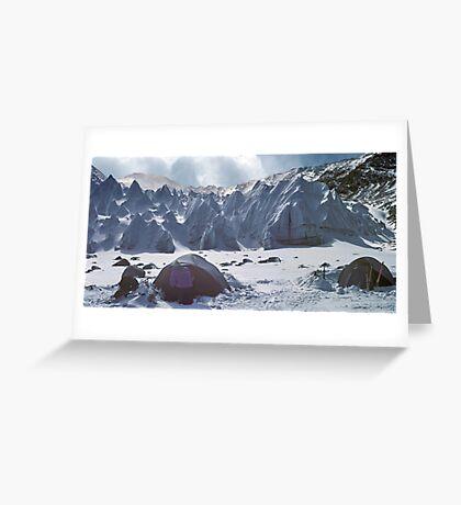 Shishapangma basecamp, Tibet Greeting Card