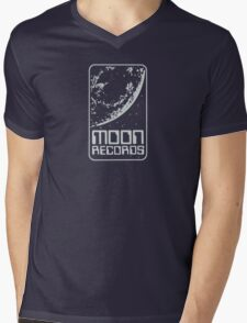 Moon Records Label Mens V-Neck T-Shirt