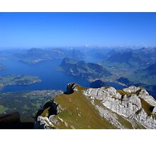 Alps. View from mountain Pilatus. Switzerland. Photographic Print