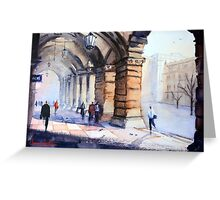 Morning in the GPO Colonnade Greeting Card