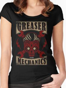 Rockabilly Greaser Mechanics Vintage Design | Classic Women's Fitted Scoop T-Shirt