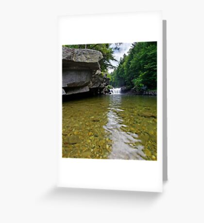 Bartlett Falls, Bristol, Vermont Greeting Card