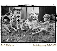 Playing in the Gravel(Amazing Archives) Photographic Print