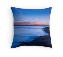 Cobalt Sunrise Throw Pillow