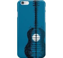Trees sea and the moon turned guitar iPhone Case/Skin