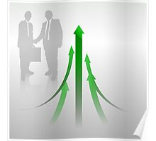 Abstract Cooperation Background Poster