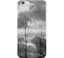 As the crow flies in black and white iPhone Case/Skin