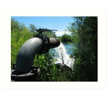 Irrigation Pump Art Print
