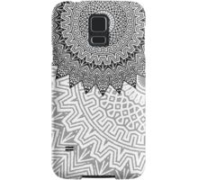 Black and white background Samsung Galaxy Case/Skin