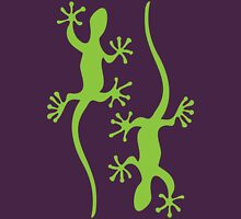 Two green geckos Tee Womens Fitted T-Shirt
