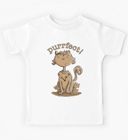 Purrfect Mommy Cat and Kittens Kids Tee