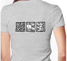 Three Icons Tee Womens Fitted T-Shirt