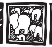 Three Icons Tee Sticker