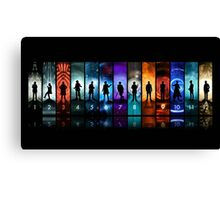 Doctor Who All Doctors Canvas Print