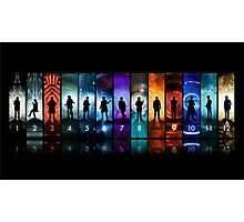 Doctor Who All Doctors Photographic Print