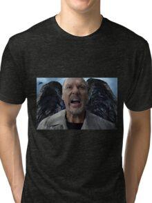 Birdman - Michael Keaton Digital Portrait  Tri-blend T-Shirt