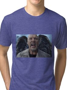 Birdman - Michael Keaton Digital Portrait  Tri-blend T-Shirt
