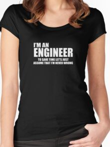 Engineer Funny Geek Nerd Women's Fitted Scoop T-Shirt