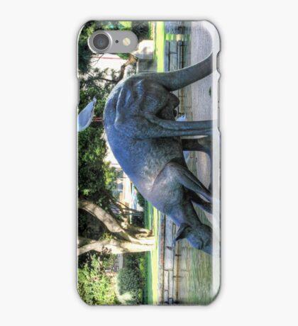Kangaroos In The City 1 - Perth WA - HDR iPhone Case/Skin