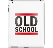 OLD SCHOOL Black iPad Case/Skin