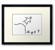 basejumping extreme sport Framed Print