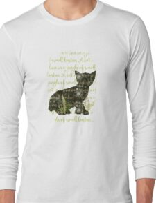 A cat is a lion in a jungle of small bushes Long Sleeve T-Shirt