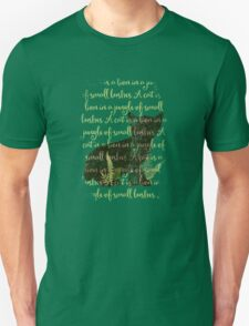 A cat is a lion in a jungle of small bushes Unisex T-Shirt