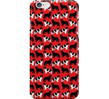 Repeated Pattern of Black and Lanseer Newfies iPhone Case/Skin