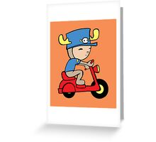Scooter Moose Greeting Card
