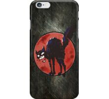angry black cat against the world iPhone Case/Skin