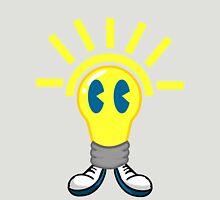 Lightbulb Tee Large Design Unisex T-Shirt