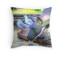 Kangaroos In The City 2 - Perth WA - HDR Throw Pillow